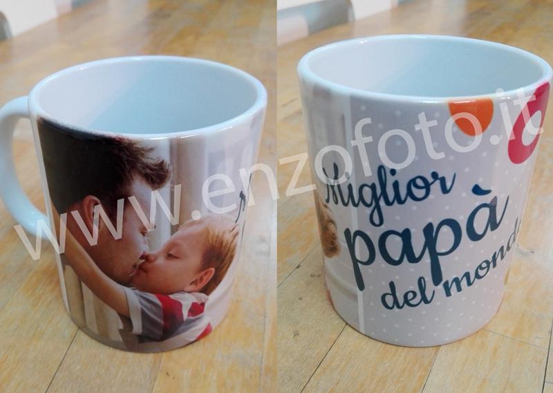 foto tazza regalo papà